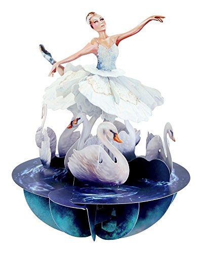 Santoro Pirouettes Swan Lake Ballet 3D Pop Up Card (PS064)