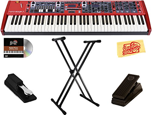 Best Price! Nord Stage 3 Compact Keyboard Bundle with Stand, Sustain Pedal, Austin Bazaar Instructio...