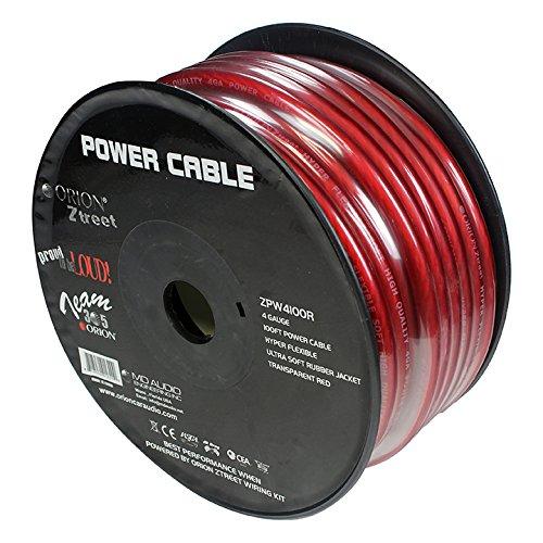 Orion Ztreet 4 Gauge Power Wire Red 100' roll