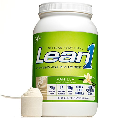 (Nutrition 53 Lean 1 Vanilla, Lactose Free Protein Powder, 23 Serving Tub- 2.6 lbs)