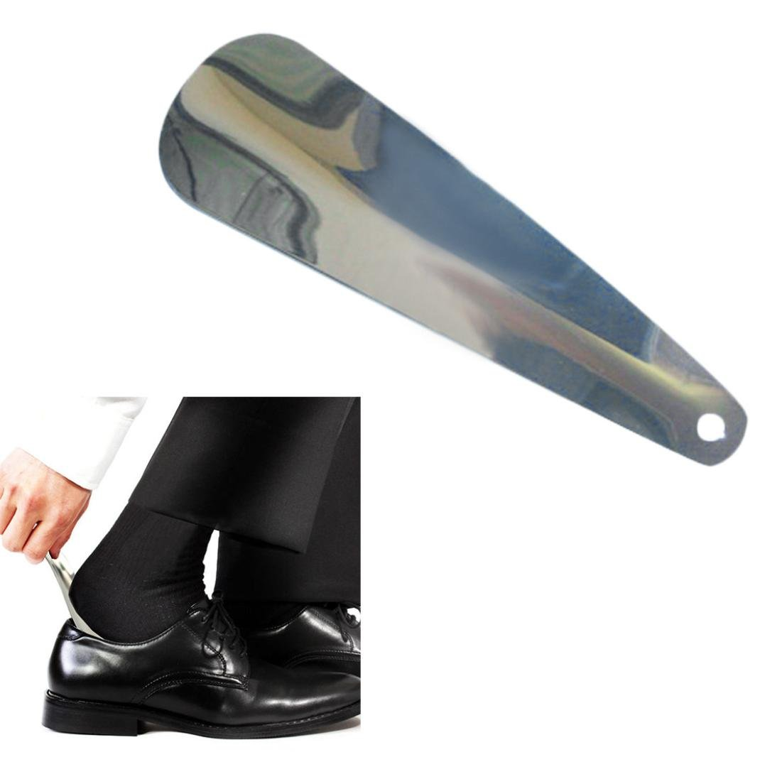 UMFun Shoe Horn Stainless Steel Shoe Horn with Leather Strap Travel Shoehorn (B) by UMFun_Home Decoration (Image #1)