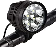Weihao Bicycle Headlight 10500 Lumens 7 LED Bike Light Waterproof Mountain Bike Front Light Headlamp with 9600