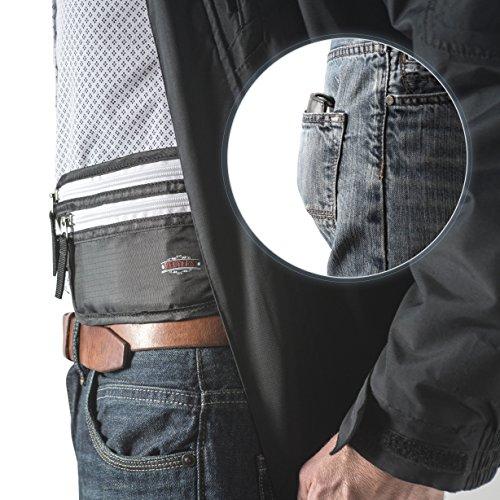 Geldgürtel - Redvers RFID Reisegeldtasche, Safe für Wertsachen + Versteckt GELD-ZURÜCK-GARANTIE, Bauchtasche - Der beste Geldgürtel / Reisebrieftasche zur Sicherheit Laufgürtel Reisepass Geldbörse
