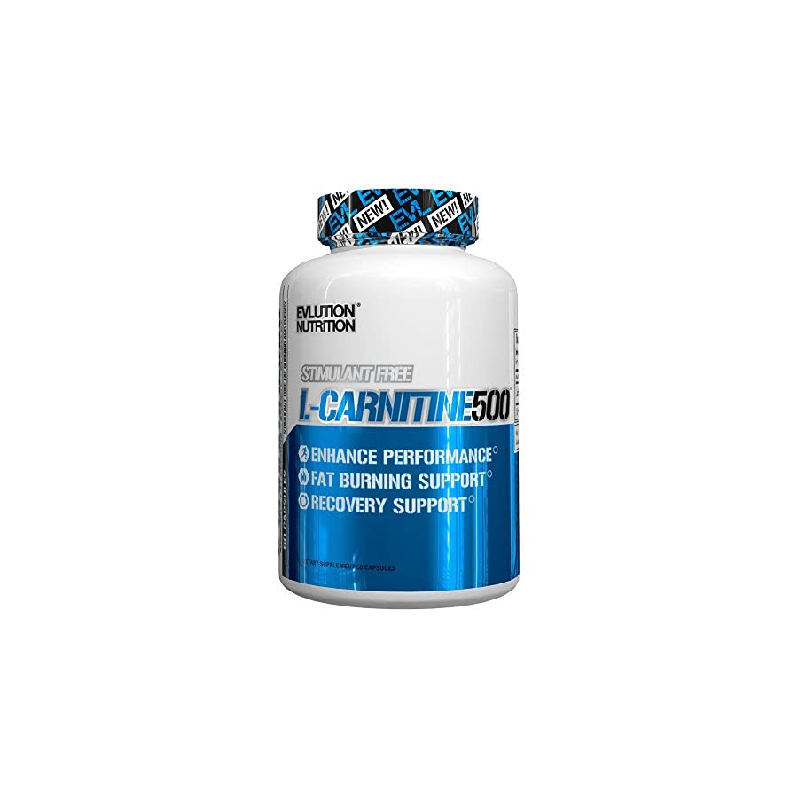 Evlution Nutrition Carnitine500 500 mg of Pure L Carnitine in Each Serving