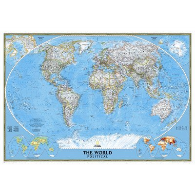 Amazon Com National Geographic 9 2x6 4 Classic World Map Mural By