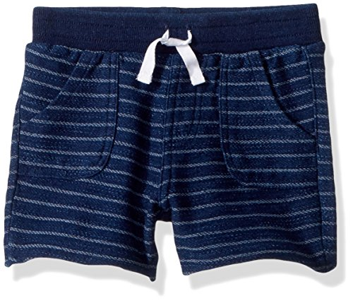 - Splendid Baby Boys Short Indigo Yarn Dyed Stripe, Dark Stone 12/18 mo