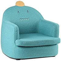 Kids Armchair, Artiss Fabric Upholstered Dinosaur Children's Sofa Lounge Chair, Green