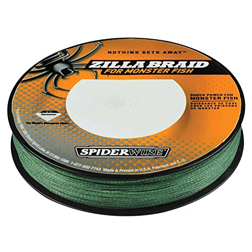 Spiderwire Zilla Braid Fishing Line, 40-Pound Test, 125-Yard Spool, Moss (Braid 125 Yard Spool)