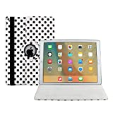 iPad Case Pro 9.7,HuLorry 360 Degree Rotating Stand Case Folio Case Creative Drop Protection Rugged Protective PU Leather Wave Point Case for iPad Pro 9.7 inch Tablet