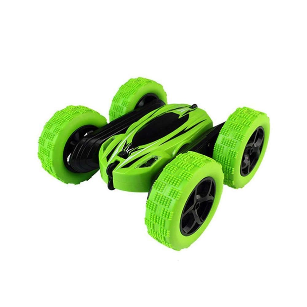 Remote Control Car, RC Stunt Car 360 Degree Rotate Spinning Action Remote Control R/C Car Double Side Roll for Children (Green)
