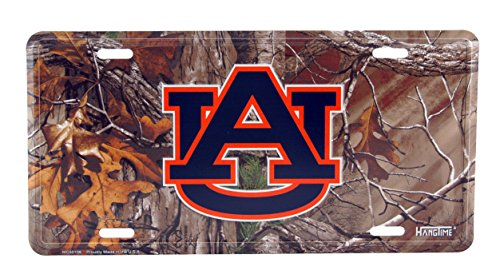 - HangTime University of Auburn Camouflage Metal License Plate