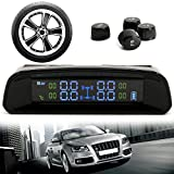 TPMS-Tyre-Pressure-Monitor-LESHP-Auto-Wireless-Solar-Rechargeble-Digital-Tyre-PressureTemperature-Gauge-Accurate-Detection-Monitoring-System-with-LED-Anti-theft-Tyre-Pressure-4Pcs-External-Sensors