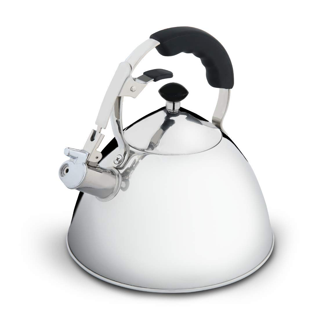 Whistling Tea Kettle,2.0L Stovetop Teapot Teakettles with 18/8 Stainless Steel,Available for Gas/Induction/Electric/Ceramic/Halogen/Wood Stove
