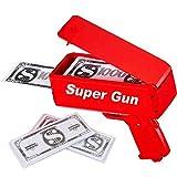 Sopu Make it Rain Money Gun Paper Playing Spary Money Toy Gun, Prop Money Gun with 100 Pcs Play Money Cash Gun Party Supplies (Money Gun)