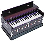 Queen Brass Harmonium-Peti-Baja Octave -7 Stop-Bass/Male Reed-440 Hz-Multi Fold Bellow