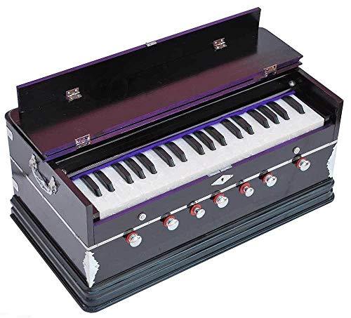 Queen Brass Harmonium-Peti-Baja Octave -7 Stop-Bass/Male Reed-440 Hz-Multi Fold Bellow