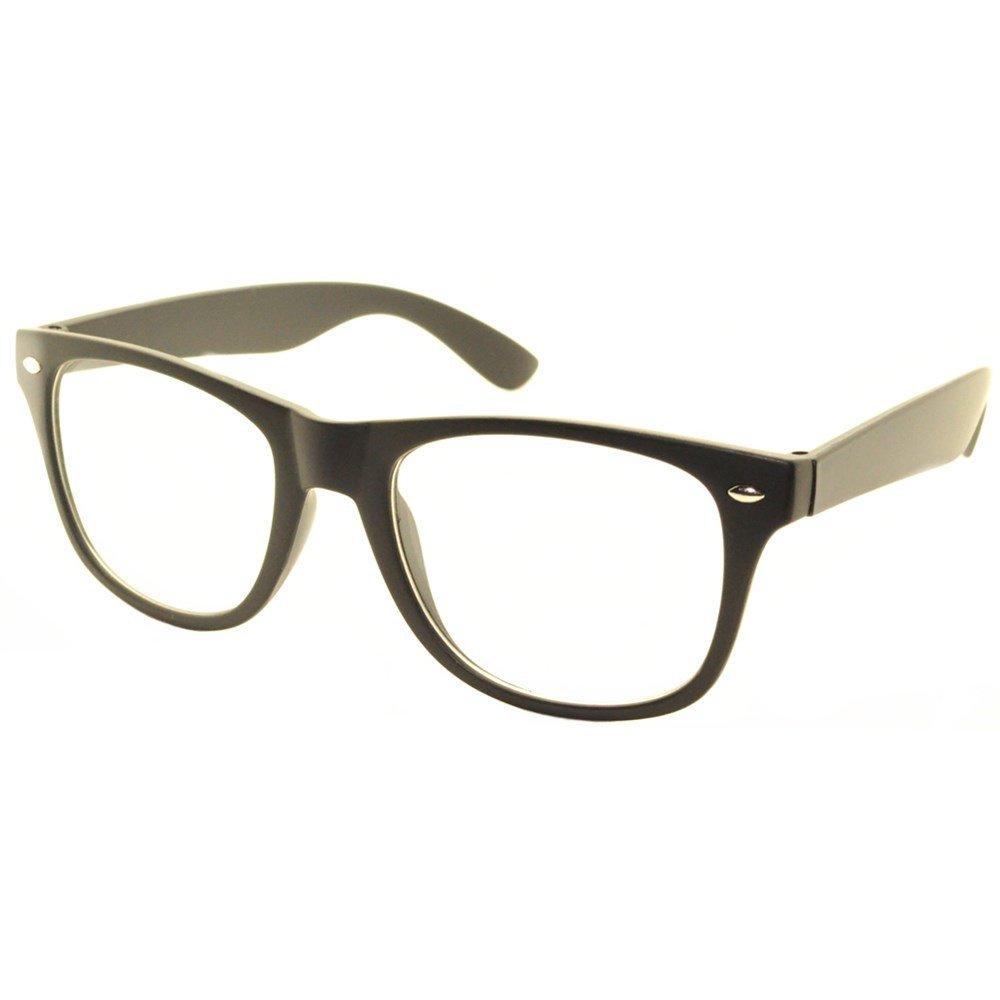 FancyG Classic Retro Fashion Style Clear Lenses Glasses Frame Eyewear - Matte Black