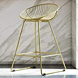 CosmoLiving Ellis Wire Counter Stool Gold
