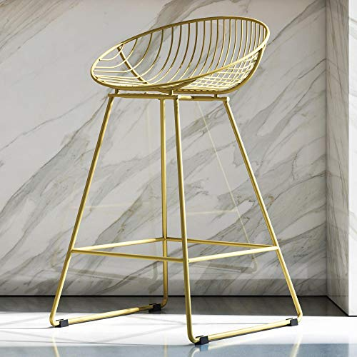 (CosmoLiving Ellis Wire Counter Stool Gold )