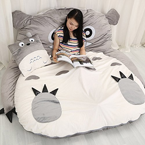 AmazondeSuper Soft My Neighbor Totoro Sleeping Bag Warm Cartoon Tatami Beanbag Sofa Bed Twin Queen Double
