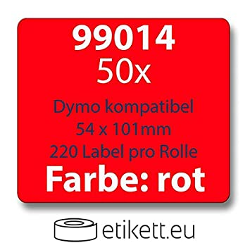 zu Dymo 99014 54x101mm 220 Label Etiketten pro Rolle 50x Label kompat
