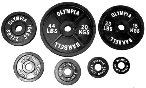 Ader Black Olympic Plate (300 Lbs Set w/ Bar, Collars)