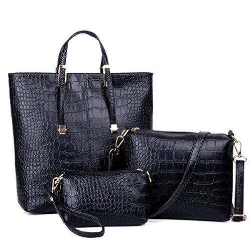 Aoligei Crocodile modèle paquet trois de la version coréenne de mode sac féminin A