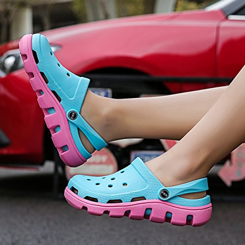 Sandals Unisex Breathable Apodidae Shoes Garden Clog Hole Hollow Powder Blue Shoes New Mules vwwgaqF