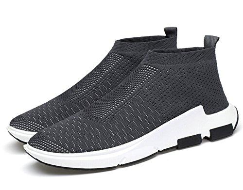 Herren Sportschuhe Sneaker Outdoor Sport Laufschuhe High-Top Freizeit  Atmungsaktive Schuhe Grau ...