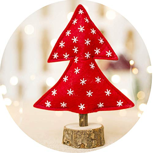 Polk Dot Christmas Wooden Decorations Striped Printed Christmas Tree Kids Toy Christmas Tree,8