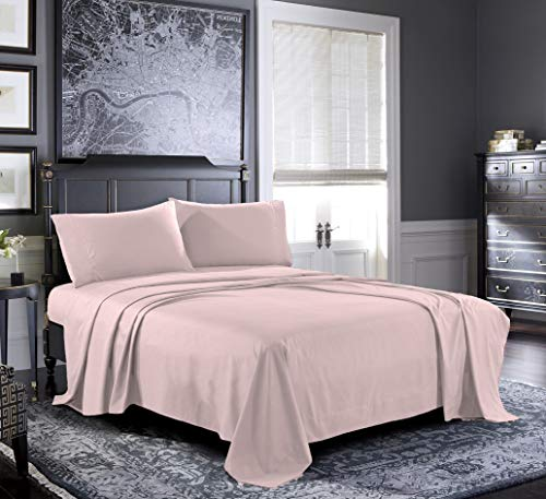 Fresh Linen Queen Sheets [4-Piece, Pink] Hotel Luxury Bed Sheets - Extra Soft 1800 Microfiber Sheet Set, Wrinkle, Fade, Stain Resistant - Deep Pocket Fitted Sheet, Flat Sheet, Pillow Cases