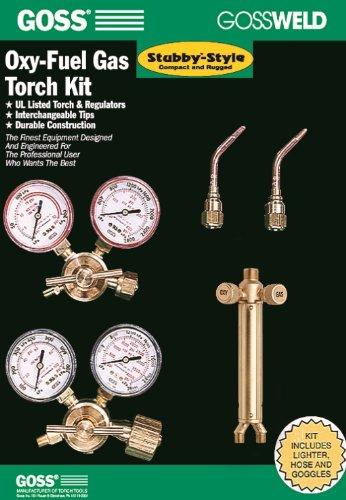 Goss KA-700-M 700 Series Oxy-Acetylene Welding and Brazing Kit with MC Acet Regulator