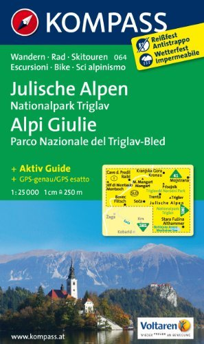 Triglav - Lake Bled - Julian Alps (Slovenia) 1:25,000 Hiking Map, laminated, GPS-precise KOMPASS