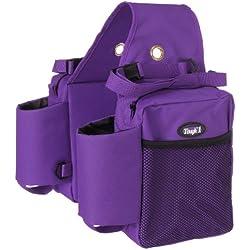 Tough 1 Nylon Water Bottle/Gear Carrier Saddle Bag, Purple
