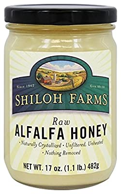 Shiloh Farms Raw Alfalfa Honey -- 17 oz