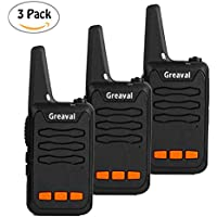 Greaval Walkie Talkies for Kids Rechargeable Childrens Two Way Radios with Flash Light(Pack of 3)