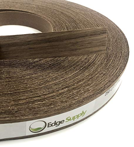Made in USA. Smooth Sanded Finish Flexible Wood Tape Easy Application Iron On with Hot Melt Adhesive Cherry Preglued 2 X 10 Wood Veneer Edgebanding Roll