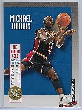 timeless design 5c814 30263 Amazon.com: 1992-93 Skybox Basketball Michael Jordan Olympic ...