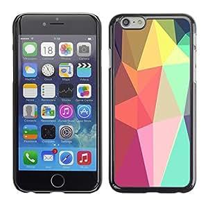 Cubierta de la caja de protección la piel dura para el Apple iPhone 6PLUS (5.5) - shapes lollipop android purple