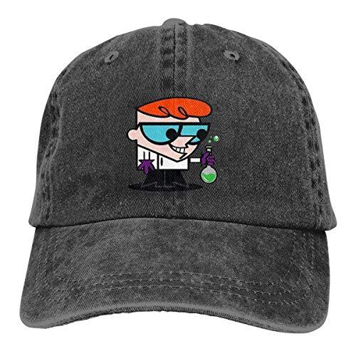 Funny Cap Dexters Lab Logo Denim Baseball Caps Unisex Dad Cap Trucker Hat Black