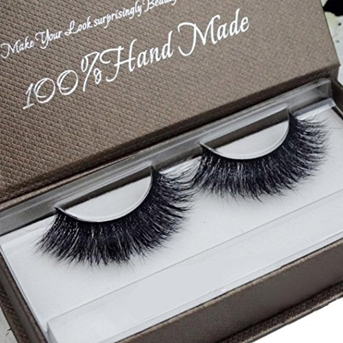GreatFun Women Soft 3D Mink Hair Simulation Thick Stage Fake Eyelashes