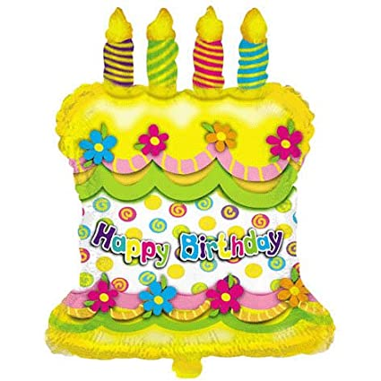 Amazon 28 Happy Birthday Cake Candles Helium Shape Balloon