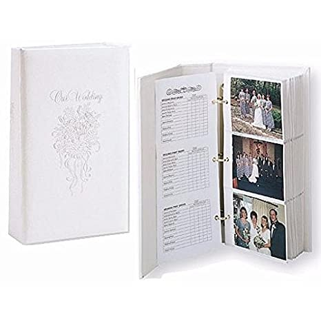 Amazoncom Our Wedding 3 Ring Pocket Embossed White Proof Book For