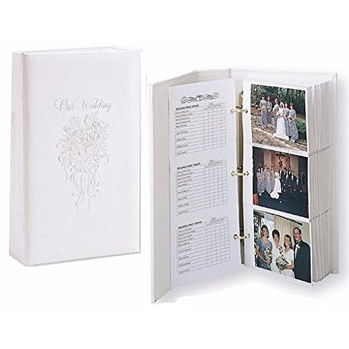 OUR WEDDING 3-ring pocket embossed white proof book for up to 300 4x6 photos - 4x6 TAP® 101893001