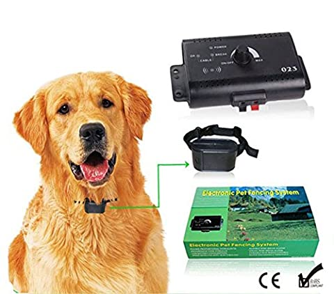 High Performance Electronic Pet Fencing System Invisible Dog Fence with Tone & Shock Pulse Stimulus Collar(for two - Innotek Electronic Dog Fence