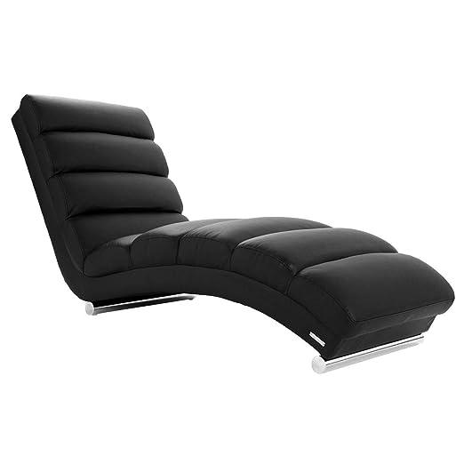 Miliboo - Chaise Longue de diseño negra TAYLOR: Amazon.es: Hogar