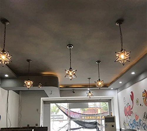 Stella vetro lampadario camera da letto moderno a soffitto for Lampadario cameretta leroy merlin