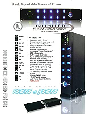 Rack Mountable 10-Outlet Home Theater Power Center - PP-52819HTC