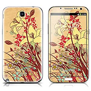 Buy SX-032 Flower Pattern Front and Back Protector Stickers for Samsung Note 2 N7100