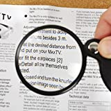 Pocket Magnifying Glass, Folding Magnifier Loupe